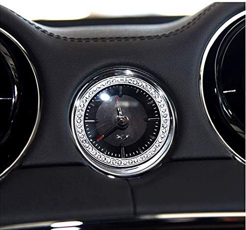 Bling Accessories Volante círculo Cubierta de control de engranajes Pegatinas freno de mano Perilla de aire acondicionado para Jaguar XJ Decal cover Applique anillo (anillo del reloj (1 pieza/juego)