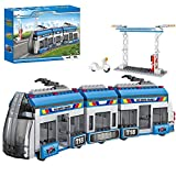 City Express Bus Building Sets with Station Passenger Train Building kit Tram Building Toys Gift for Kids Aged 6-12 (545 Pieces)