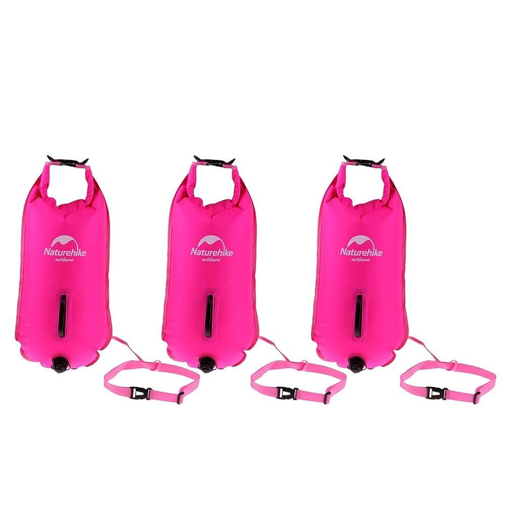 プログレッシブ忘れるシネウィToygogo 3pcsの膨脹可能な防水乾燥した袋の水泳のブイの牽引の浮遊物袋のパック
