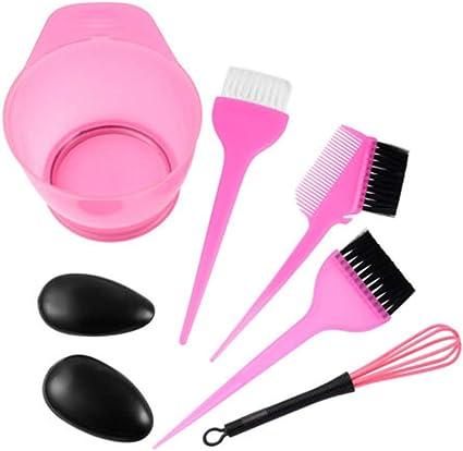 Kit de tinte para el cabello, cepillo de peluquería, cuenco ...