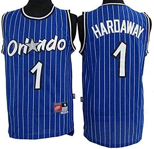 WSWZ Camiseta De La NBA para Hombre, Camiseta De Baloncesto De La NBA Orlando Magic 1# Penny Hardaway, Cómoda Camiseta Deportiva De Baloncesto De La NBA Swingman,B,L(175~180CM/75~85KG)
