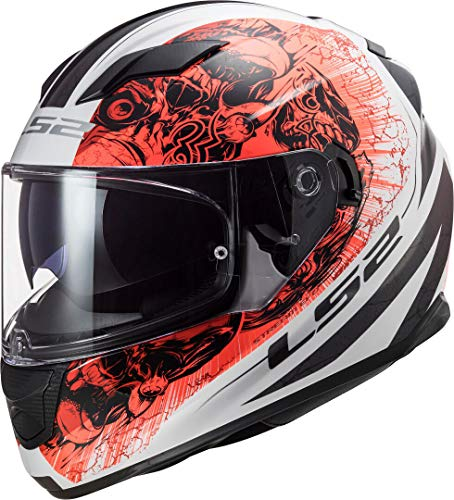 LS2 Motorradhelm FF320 STREAM EVO THRONE WHITE Orange, Schwarz/Weiss/Orange, M