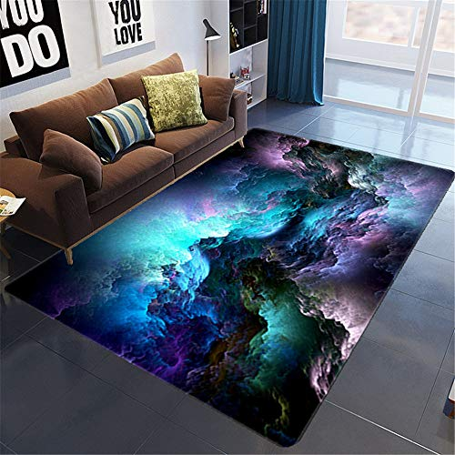 Nordic 3D Starry Sky Living Room Carpet In Addition To Mites, Moisture-Proof And Absorbent Simple Floor Mats Suitable For Hotel Bedroom Sofa Balconies