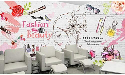 ZGHONG Aangepaste muurschildering behang moderne mode baksteen muur cosmetica achtergrond muurschildering schoonheid winkel kleding winkel 3D muur papieren 400x280 cm (157.5 by 110.2 in ) 400x280 Cm (157.5 Door 110.2 in )