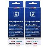 2er Pack Bosch Reinigungstabletten für Kaffeevollautomaten Thermokannen TCZ6001 2 x 10 Tabletten