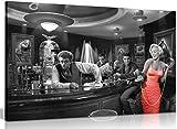 Marilyn Monroe Elvis Presley James Dean vestido rojo negro & lienzo blanco arte de pared impresión de imagen (12x8in)