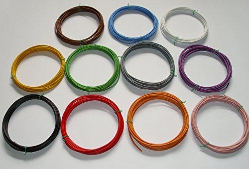 Kfz-Kabel Set 1,5mm² 1,50mm² 11 x 5m (0,60/m) Litze Flry Fahrzeugleitung