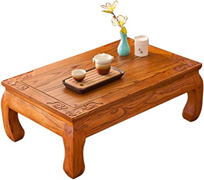 Coffee Tables Coffee Table Japanese Tatami Coffee Table Bay Window Small Desk Balcony Small Coffee Table Living Room Brown Modern Coffee Tables Casual Low Table (Color : Brown, Size : 50 * 40 * 25cm)