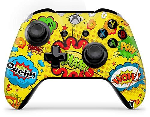 Skins4u Aufkleber Design Schutzfolie Vinyl Skin kompatibel mit Xbox One Controller Comics Yellow