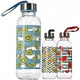 GERIMPORT Botella Cristal Andy 300 ML, Adultos Unisex, Multicolor (Multicolor), Talla Única
