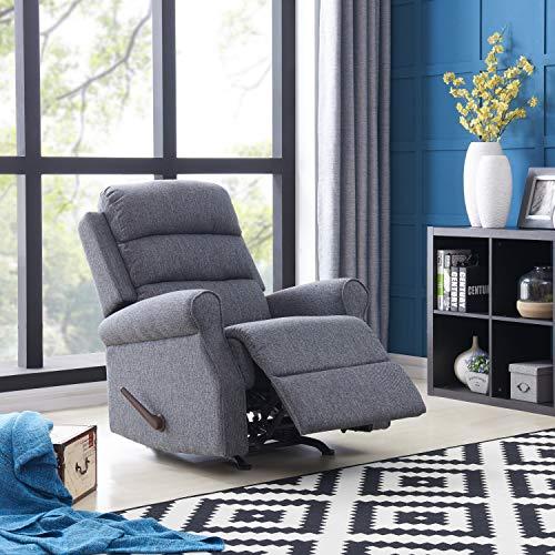 ProLounger Copper Grove Gerards Grey Woven Rocker Recliner Chair