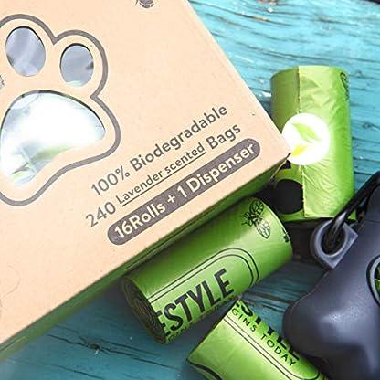 Greener Lifestyle 240 Lavender Scented Dog Poop Bags + 1 Dispenser 2