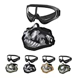 Best Airsoft Goggles - MGFLASHFORCE Airsoft Mask and Goggles Set, Steel Mesh Review