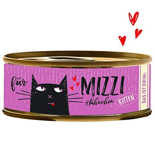 Bubeck Katzenfutter Kitten - Katze Nassfutter - Mizzi - Hühnchen Dose 100g