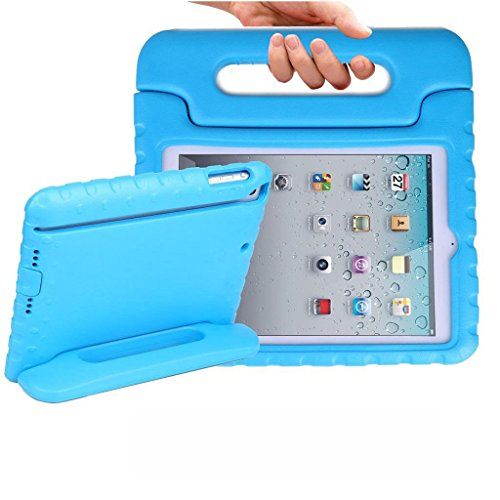 iPad Mini Case, TabPow [Kids Case] - [Shockproof][Drop Protection][Heavy Duty] Kids Children EVA Case Cover with Carrying Handle Stand For iPad Mini and iPad Mini 2 with Retina (Blue)