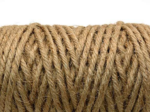 SFS JUTESEIL 6mm - 40mm Tauwerk Seile Leine Rope Naturhanf Hanfseil Tauziehen Jute Tauziehen Absperrseil Handlauf Dekoration DIY IST-Bild (100, 3mm)