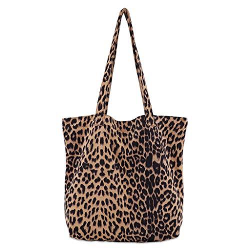Losping - Bolso bandolera para mujer, estampado de leopardo, bolso de mano,...