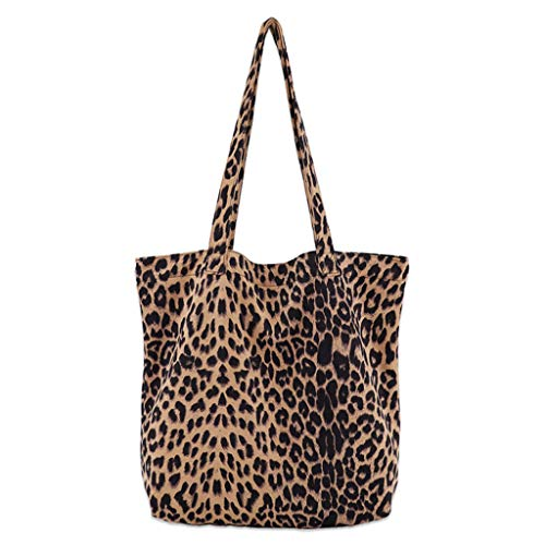 PTMD Women Leopard Print Handbag Shoulder Ladies Purse Messenger Satchel Shopping Tote Bag