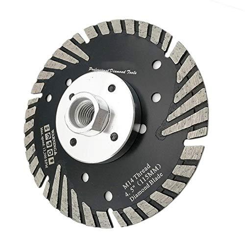 WEISHAN - Disco de corte para sierra de granito (115 mm, 115 mm)