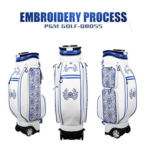 Crestgolf-PGM Damen Golftasche, einziehbar, mit Rollen, wasserdichte Golftasche, Stickerei