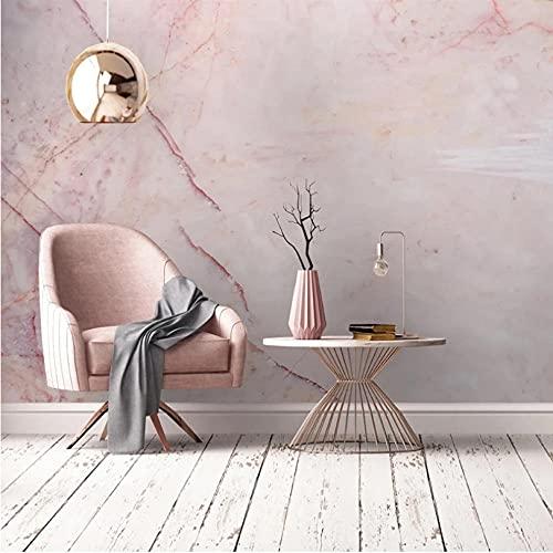 Foto 3D piedra rosa patrón de mármol impermeable lienzo pintura papel tapiz sala de estar moderna sofá TV Fondo pared Mural-350X245CM