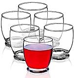 KADAX Wassergläser, Set von 6, Trinkgläser, Saftgläser aus Glas, robuste Gläser für Wasser, Saft, Garten, Party, Drink, Bier, Universalgläser, Cocktailgläser, Getränkegläser (Mitzi, 270ml)