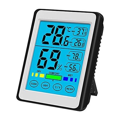 Digitale Thermohygrometer, Binnenthermometer, Hygrometer, Voor Klimaatbeheersing in De Kamer, Voor Binnen En Buiten, Luchtbewaking, Kleurenscherm Weerstation Draadloze, Voor Thuis, Babykamer
