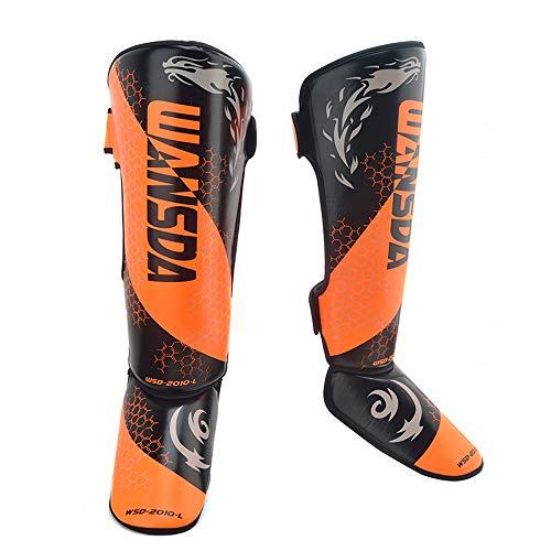 PLID Espinillera de Boxeo para espinilleras con Velcro,Almohadilla para espinilleras MMA,Muay Thai Shin,Protector de espinilleras con Correas para protección y Entrenamiento