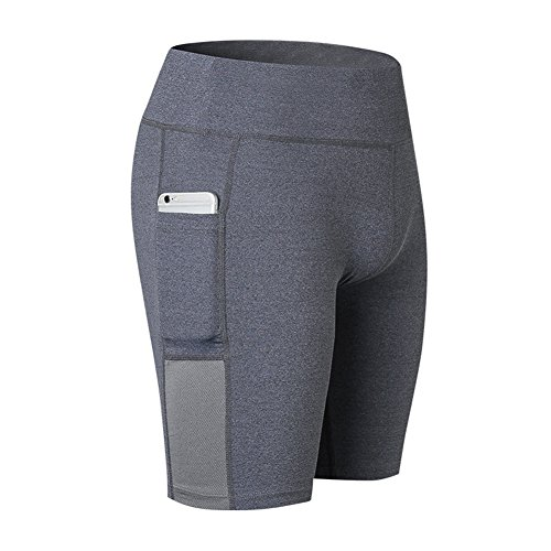 Juleya Damen Kurze Hose Kompressionshose Kurz Leggings Sport Shorts Sommer Thermo Leggins Laufhose Yoga Pants Fitnesshose Sporthosen Tights...