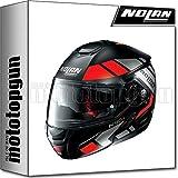 NOLAN CASCO MOTO MODULARE N90-2 EUCLID NERO MATTO 025 TG. XXS