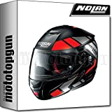 NOLAN CASCO MOTO MODULARE N90-2 EUCLID NERO MATTO 025 TG. M