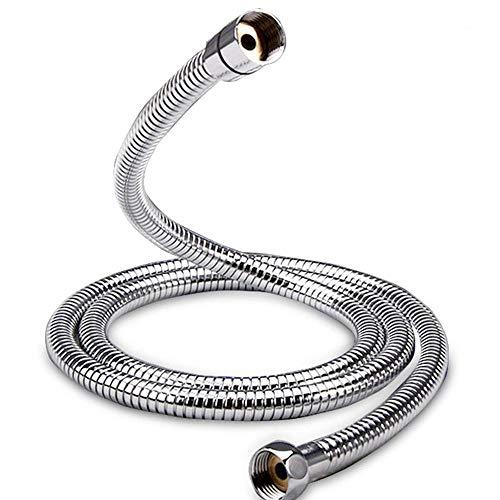 Kibath 190001 Flexo de acero inoxidable para ducha o bañera. Universal. Extensible Desde 175 cm hasta 225 cm, 175/225 cm