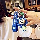 Schlüsselanhänger mit Cartoon-Tier-Kreuzung, niedlicher Silikon-Puppen-Charm, Nintendo Switch, Spiel, Schlüsselanhänger, Autozubehör, Geschenk, Cartoon-Schlüsselanhänger (Farbe: grün)