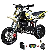 X-PRO Cyclone 40cc Kids Dirt Bike Mini Pit Bike Dirt Bikes Motorcycle Gas Power Bike Off Road with Gloves, Googles and Face Mask(Black)
