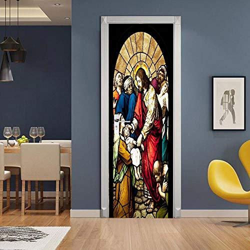 BXZGDJY, deurbehang, handgetekend portret, deurbehang, zelfklevend, deurposter - middeleeuw, fotobehang, deurfolie, poster behang, zee, deurbehang, zelfklevend, deurposter 90X200CM