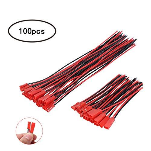 50 Paare JST steckverbinder 2 Pin Stecker und Buchse Männlich Weiblichen Stecker Verbinderkabel Wire für Lampe Streife RC Spielzeug(10cm, 15cm)