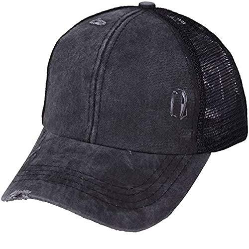 VARWANEO Unisex Baseball Caps Dad Cap Vintage Adjustable Sport Caps Women Cross Ponytail Cotton Mesh Sun Hat