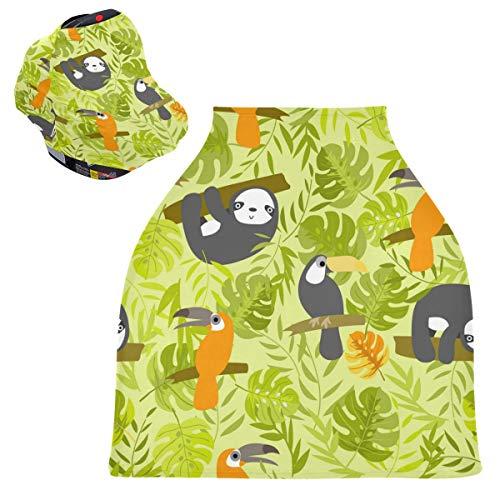 Sloth - Fundas para asiento de coche para bebé recién nacido, juego de mejores regalos de bebé, toldo multiusos para asiento de coche para recién nacidos