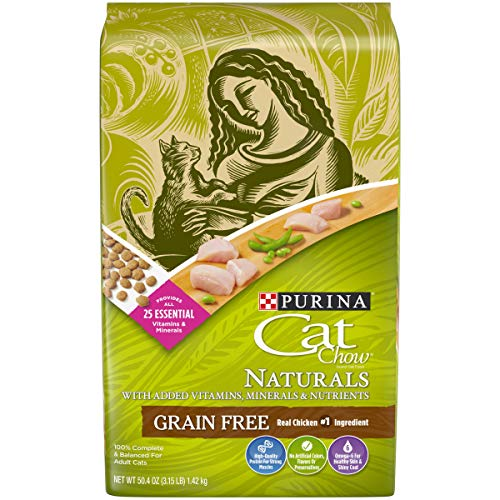 Purina Cat Chow Grain Free, Natural Dry Cat Food, Naturals With Real Chicken - (4) 3.15 lb. Bags