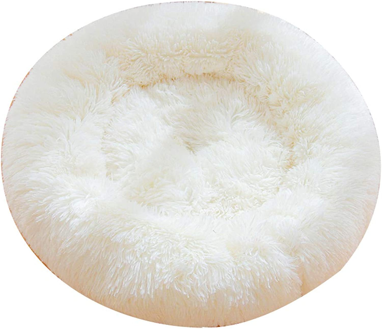Kennel QIQIDEDIAN Pet Nest Winter Warm Small And Medium Dogs Four Seasons Universal Pet Bed House Cat Supplies Full Set (color   White)