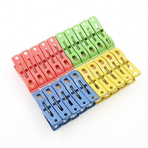 Lot de 20 épingles à Linge à Suspendre à Pinces à Linge Clips Pinces à Linge Heavy Duty Plastique