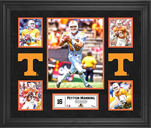 Peyton Manning Tennessee Volunteers Framed 5-Photo Collage - College Player Plaques and Collages