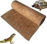 Coco Liner Roll, Alfombra de Reptil Fibra de Coco, Alfombra De Lagarto de Fibra de Coco Natural Para Mascotas Terrario Liner Para Cestas Colgantes Y Comederos de Pared de Jardín 19.6*39inch