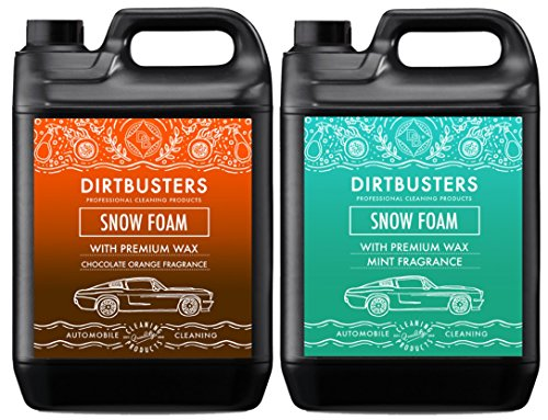 Dirtbusters Car Candy Snow Foam shampoo cleaner met hoogglans wax chocolade oranje en mint geur 5L voor professionele reiniging & valeting