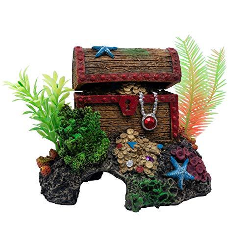 GloFish Aquarium Décor and Pump, Treasure Chest Air Pump Decoration for Fish Tanks, Multicolor