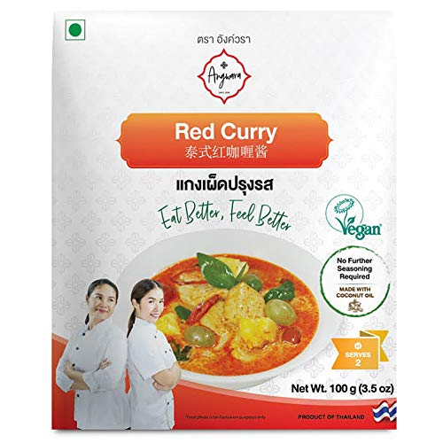 Red Curry Paste Vegan Vegetarian Thai Kitchen 3.5 Oz / Ready-to-Cook & No Extra Seasoning Required