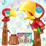 Jojoin Macchina per Bolle per Bambini, Bubble Maker con Musica e Luce, Design di Pappagall...