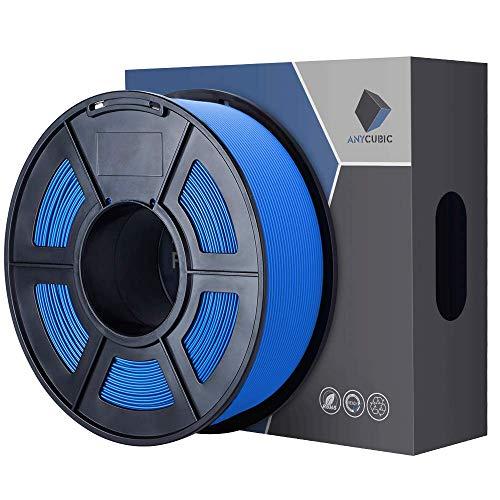 ANYCUBIC PLA Filamento 1KG 1.75mm per Stampante 3D, Low Odor Dimensional precisione dimensionale +/- 0,02 mm (A-Blu)