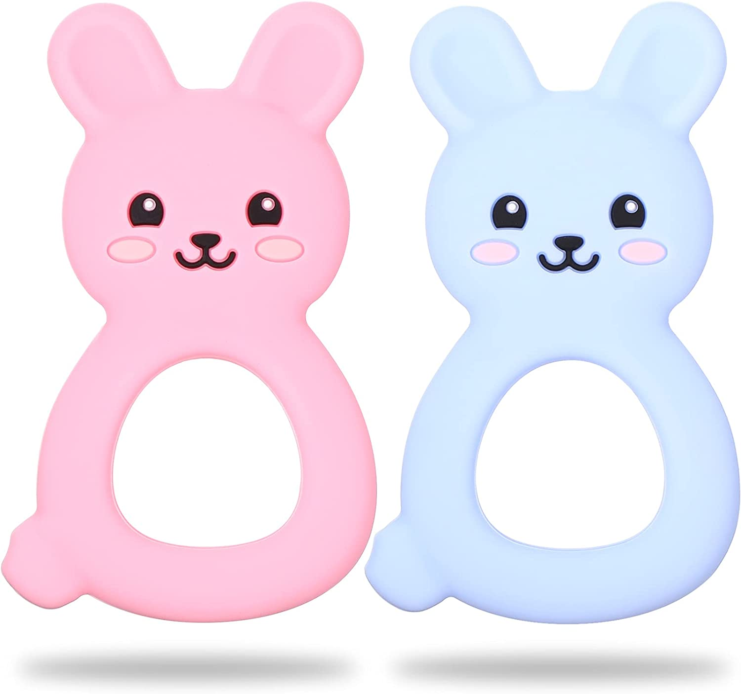 Outstanding mart Nuanchu 2 Pieces Baby Teething Bunny Toys Silicone