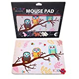 ICOLOR Cute Three Owls Design Computer Optical Neoprene Mousepad PC Mouse Mat Mice Pad Silicone Mouse Pad MP-052